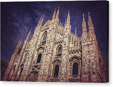 Stonework Canvas Print - Milan Duomo by Carol Japp