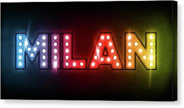 Milan In Lights Canvas Print