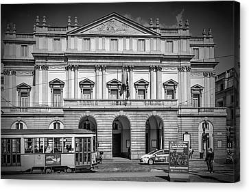 Milan Monochrome Teatro Alla Scala Canvas Print by Melanie Viola