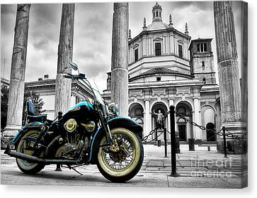 Milan__ Monument S Canvas Print by Alessandro Giorgi Art Photography