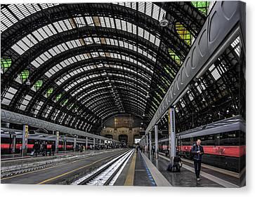 Train Station Canvas Print - Milano Centrale by Carol Japp