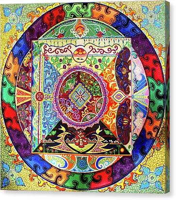Milarepa Canvas Print - Milarepa Marpa by Dar Freeland