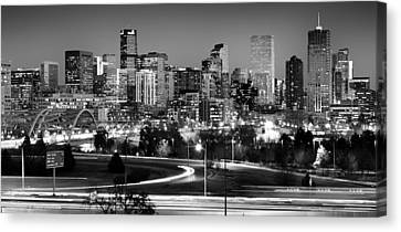 Glass Canvas Print - Mile High Skyline by Kevin Munro