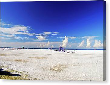 Canvas Print featuring the photograph Miles And Miles Of White Sand by Gary Wonning