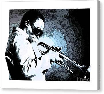 Miles Davis Canvas Print by Debora Cardaci