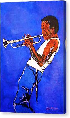 Canvas Print - Miles Davis-miles And Miles Away by Bill Manson