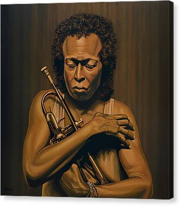 Miles Davis Painting Canvas Print