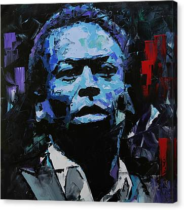 Canvas Print featuring the painting Miles Davis by Richard Day