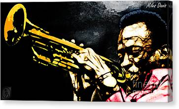 Rhythm And Blues Canvas Print - Miles Davis by The DigArtisT