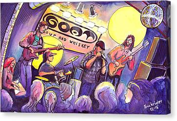 Canvas Print featuring the painting Miles Guzman Band by David Sockrider