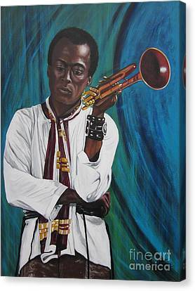 Miles-in A Really Cool White Shirt Canvas Print by Sigrid Tune