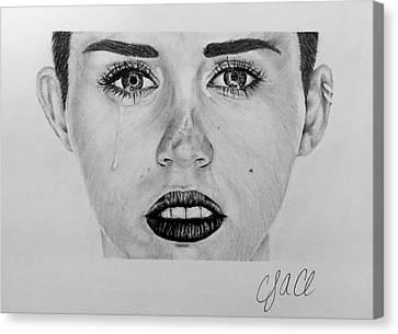 Celeb Canvas Print - Miley Cyrus by Cody Cole