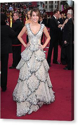 Miley Cyrus Wearing A Zuhair Murad Gown Canvas Print