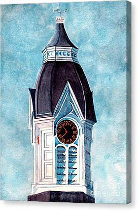 Milford Clock Tower Canvas Print by Janine Riley