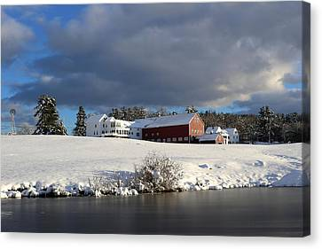Milford Winter Canvas Print