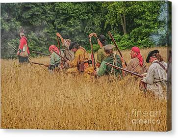 Canvas Print featuring the digital art Milita On The Flank by Randy Steele