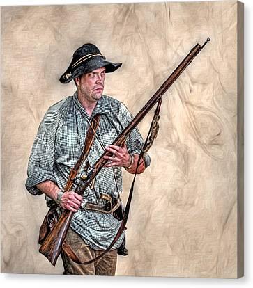 Militia Ranger Scout Portrait Canvas Print by Randy Steele