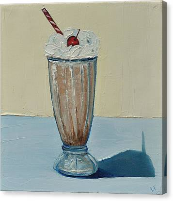 Canvas Print featuring the painting Milkshake by Lindsay Frost