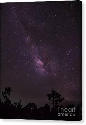 Milky Way And Galaxy. Canvas Print by Tosporn Preede