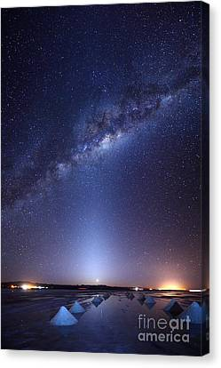 Luz Canvas Print - Milky Way And Zodiacal Light Above The Uyuni Salt Flats by James Brunker