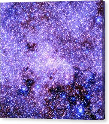Milky Way Astral Glitter Periwinkle Blue Lavender Canvas Print by Johari Smith