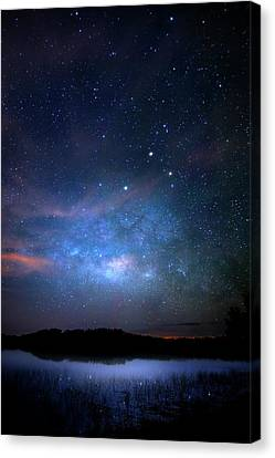 Milky Way At 9 Mile Pond Canvas Print by Mark Andrew Thomas