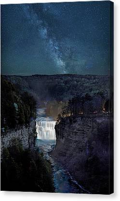 Inspiration Point Canvas Print - Milky Way At Inspiration Point by Joe Granita