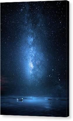 Milky Way Bay Canvas Print by Mark Andrew Thomas