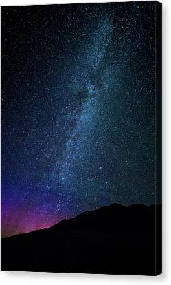 Milky Way Galaxy After Sunset Canvas Print by Dan Pearce