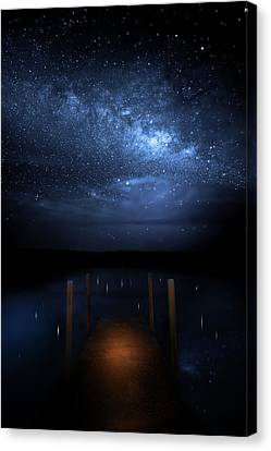 Milky Way Galaxy Canvas Print by Mark Andrew Thomas