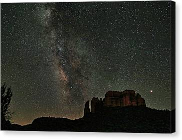 Milky Way Jupiter And Millions Of Sparkling Stars Canvas Print