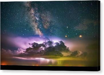 Milky Way Monsoon Canvas Print by Darren White
