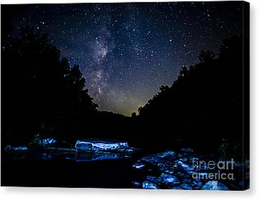 Williams River Canvas Print - Milky Way Over Baptizing Hole by Thomas R Fletcher