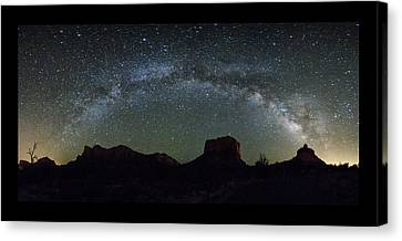 Milky Way Over Bell Canvas Print