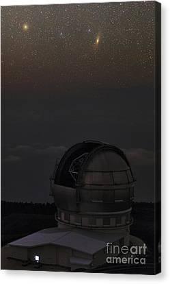Milky Way Over Gran Telescopio Canarias Canvas Print by Babak Tafreshi