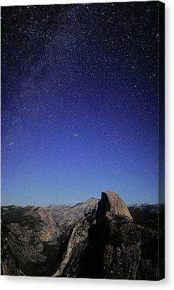 Milky Way Over Half Dome Canvas Print