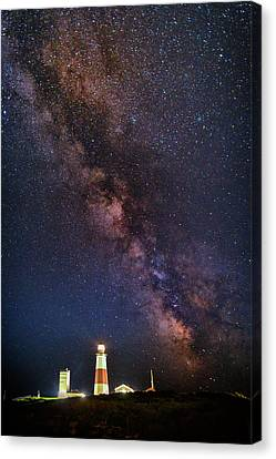 Milky Way Over Montauk Point Canvas Print
