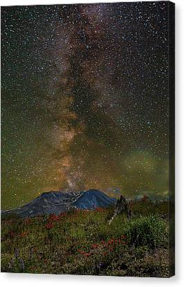 Canvas Print - Milky Way Over Mount St Helens by David Gn
