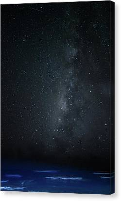 Milky Way Over Poipu Beach Canvas Print