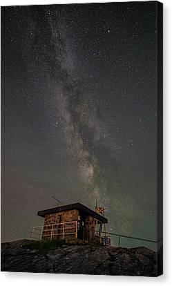 Milky Way Over Rhoscolyn Nci Station. Canvas Print by Andy Astbury