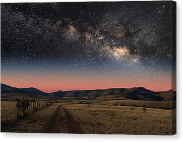 Milky Way Over Texas Canvas Print
