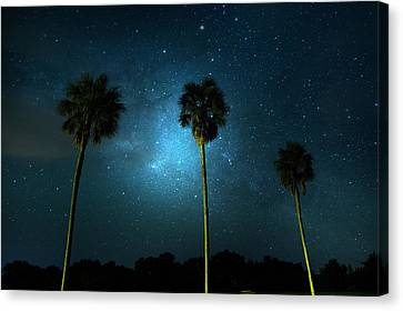 Milky Way Planet Canvas Print