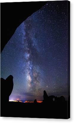 Milky Way Reach Canvas Print by Darren  White