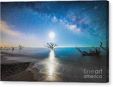 Milky Way Shore Canvas Print