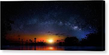 Milky Way Sunrise Canvas Print by Mark Andrew Thomas