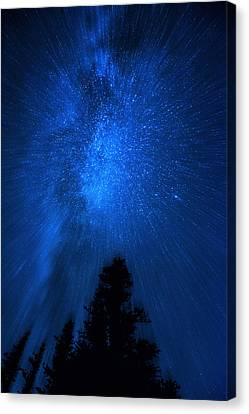 Milky Way Zoom Canvas Print by Pelo Blanco Photo