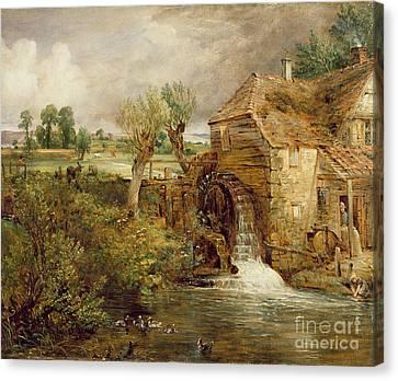 Mill At Gillingham - Dorset Canvas Print by John Constable
