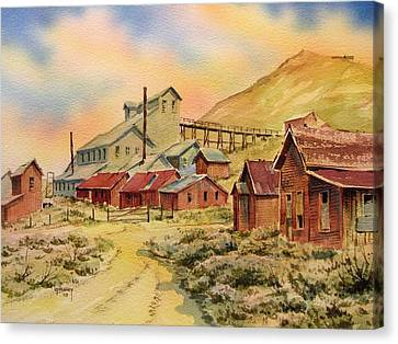 Mill Bodie Ghost Town California Canvas Print by Kevin Heaney