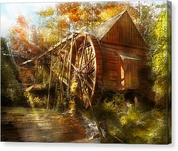 Mill - Cornelia, Ga - Grandpa's Grist Mill 1936 Canvas Print