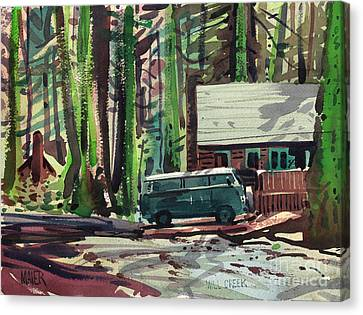 Volkswagon Canvas Print - Mill Creek Camp by Donald Maier